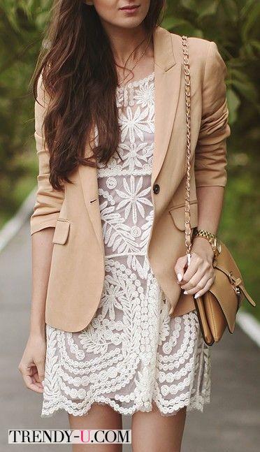 Ажурное платье и жакет