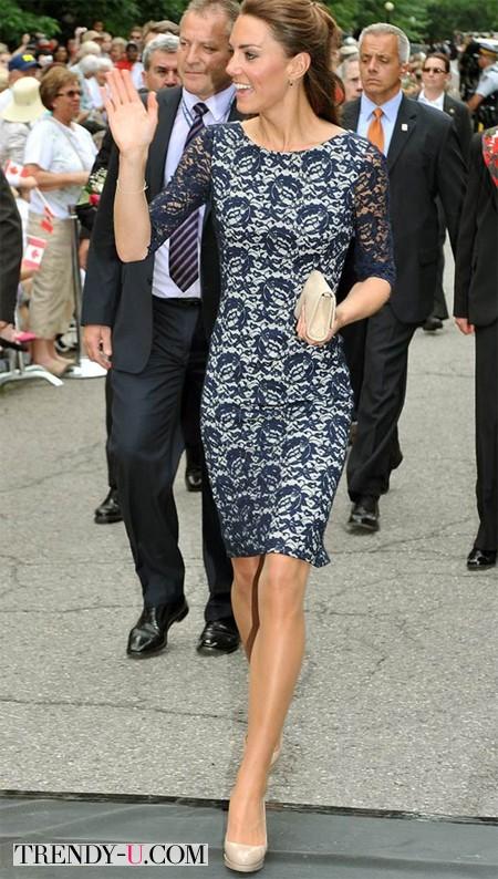 Кейт Миддлтон в платье из кружева