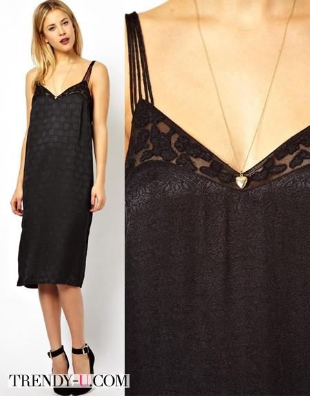 Кружевное платье-сарафан из магазина