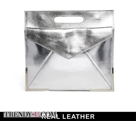 Серебристый клатч в интернет-магазине ASOS