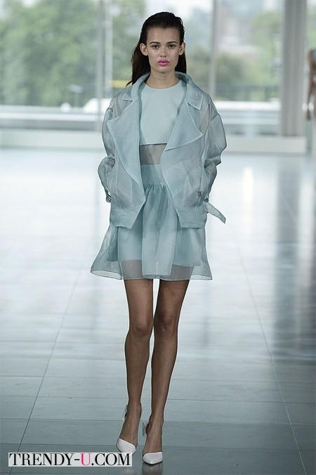 Модная полупрозрачная юбка