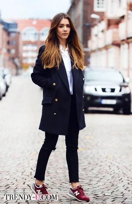 Белая блузка и стиль преппи