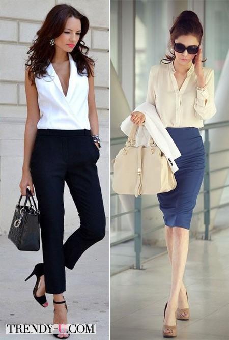 Вот так носить белую блузку!