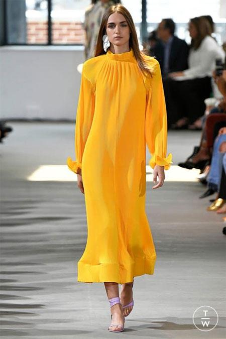 Желтое платье вечернее макси