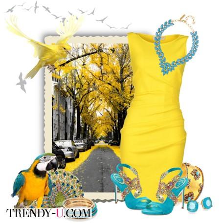Желтый и бирюзовый