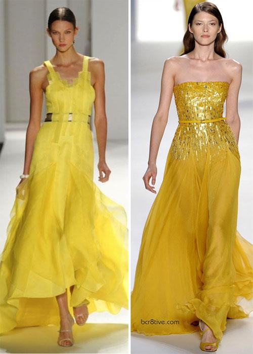 Вечерние платья желтого цвета