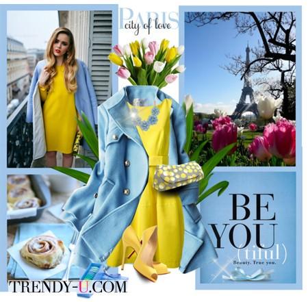 Желтый и голубой