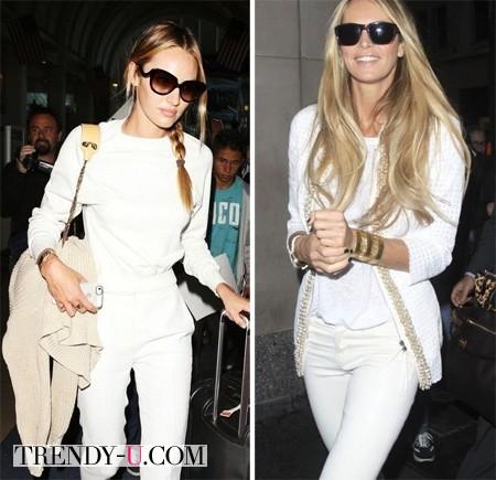 Белые брюки - белая рубашка