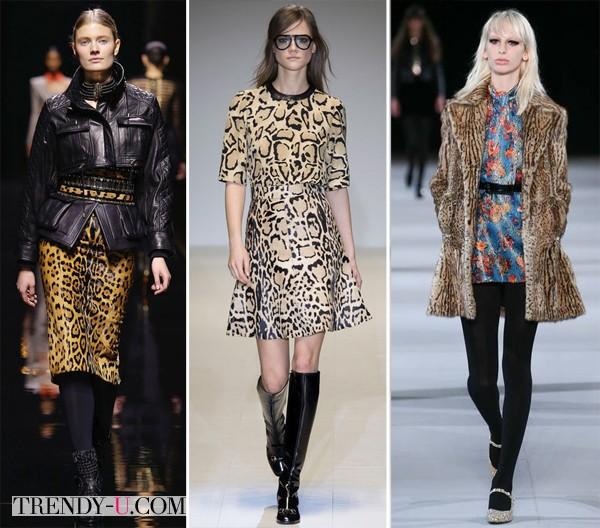 Одежда с леопардовым принтов для осени и зимы 2014-2015