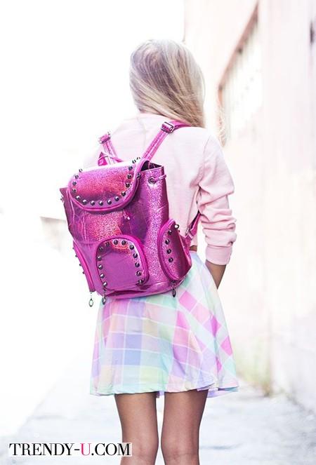 Рюкзак цвета фуксии