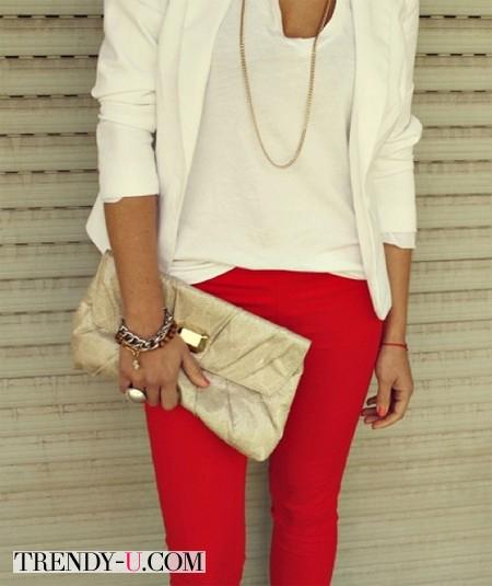 Аксессуары к красным брюкам