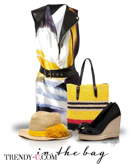 Прямоугольная плетеная сумка