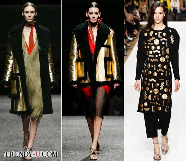 Одежда золотистого цвета осень-зима 2014-2015