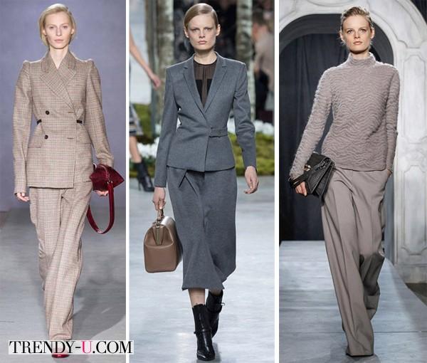 Модная одежда в деловом стиле для осени и зимы 2014-2015