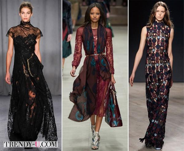 Модные вечерние платья осень-зима 2014-2015