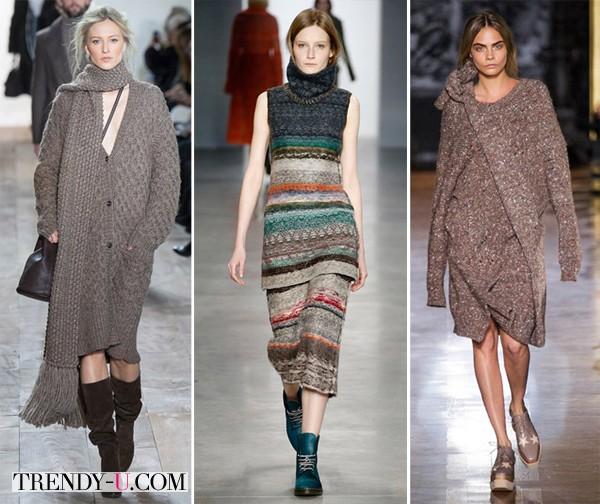 Модная вязаная одежда для осени и зимы 2014-2015