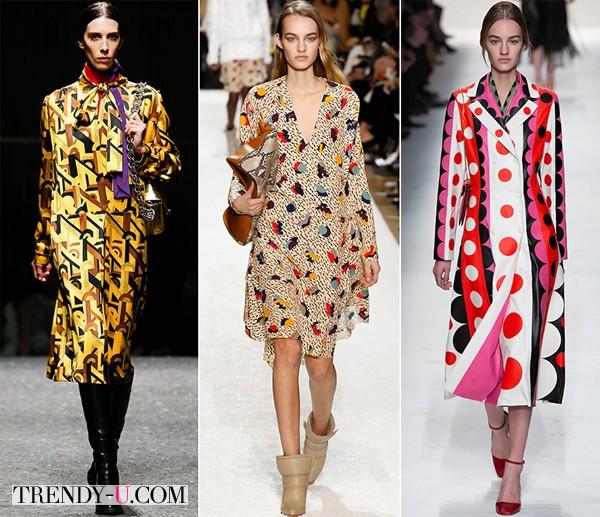 Модные принты осень-зима 2014-2015 в стиле 60-х