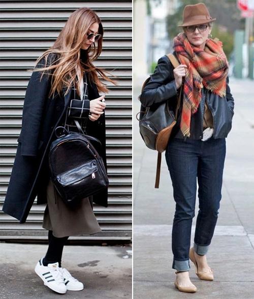 Женщины среднего возраста носят рюкзаки!