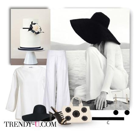 Плетеная сумка под белый летний костюм