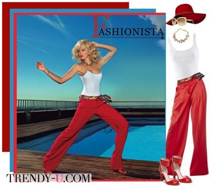 Красные брюки и майка