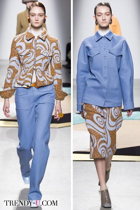 Модная джинсовая одежда от Acne осень-зима 2014-2015