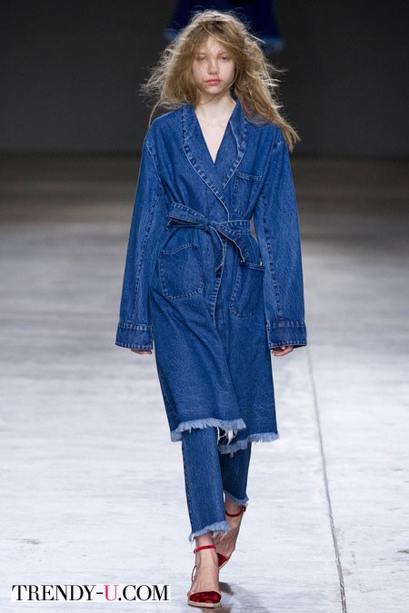 Джинсовое пальто для осени 2014-2015
