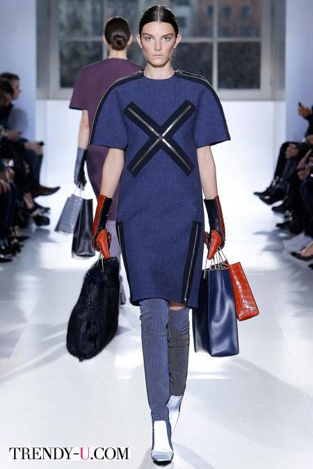 Джинсовое платье осень-зима 2014-2015