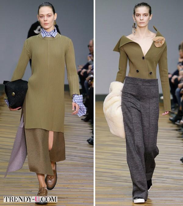 Модная одежда цвета Cypress by Céline FW 2014-2015