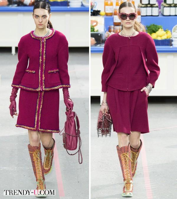 Модная одежда из коллекции Chanel осень-зима 2014-2015