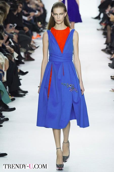 Платье цвета Bright Cobalt FW 2014-2015