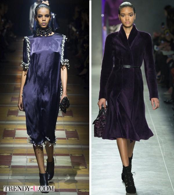 Одежда модного цвета осень-зима 2014-2015 Lanvin и Bottega Veneta