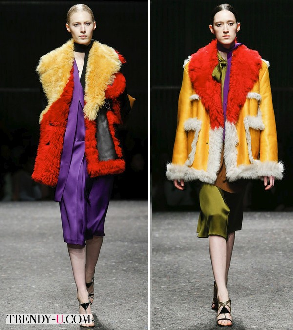 Модные дубленки осень-зима 2014-2015 от Prada