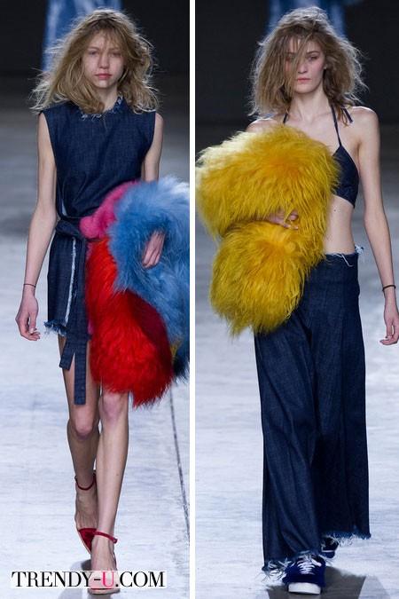 Модное джинсовое платье и двойка из денима осень-зима 2014-2015