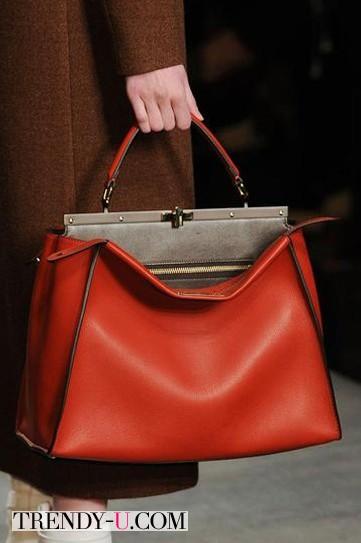 Модная кожаная сумка осень-зима 2014-2015