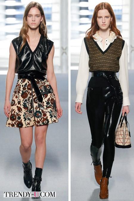 Модные луки с блузками от Louis Vuitton осень-зима 2014-2015