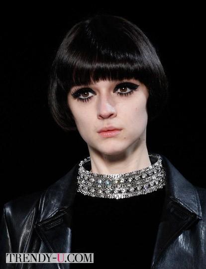 Модная стрижка паж в стиле 60-х-70-х осень-зима 2014-2015