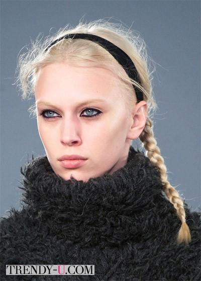 Модные косы осень-зима 2014-2015