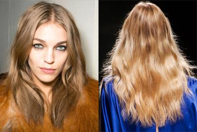 Модные прически осень-зима 2014-2015 на длинные волосы Bluemarine