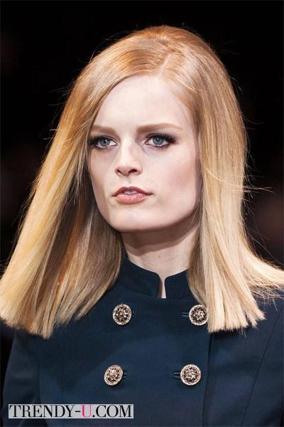 Модные прически в стиле ретро осень-зима 2014-2015 Versace