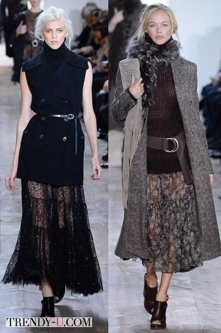 Прозрачные юбки осень-зима 2014-2015 от Michael Kors