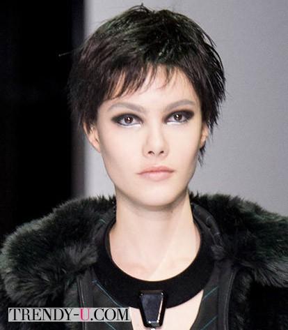 Модная стрижка на коротких волосах для осени и зимы 2014-2015