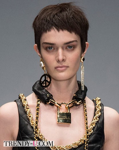 Модная стрижка боб осень-зима 2014-2015, модель Сэм Роллинсон
