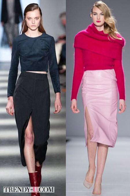 Модные юбки-карандаш от Wes Gordon Line Knitwear FW 2014-2015