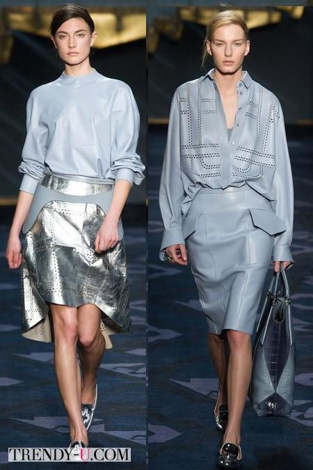 Стильные кожаные юбки 2014-2015 от Tod's