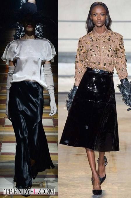 Нарядные юбки модные от Lanvin и Rochas осень-зима 2014-2015
