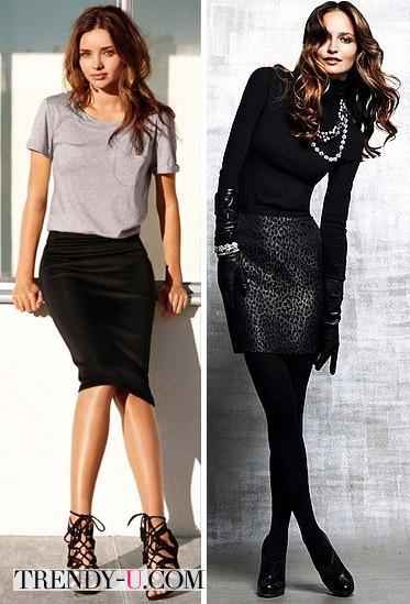 Луки с черными юбками