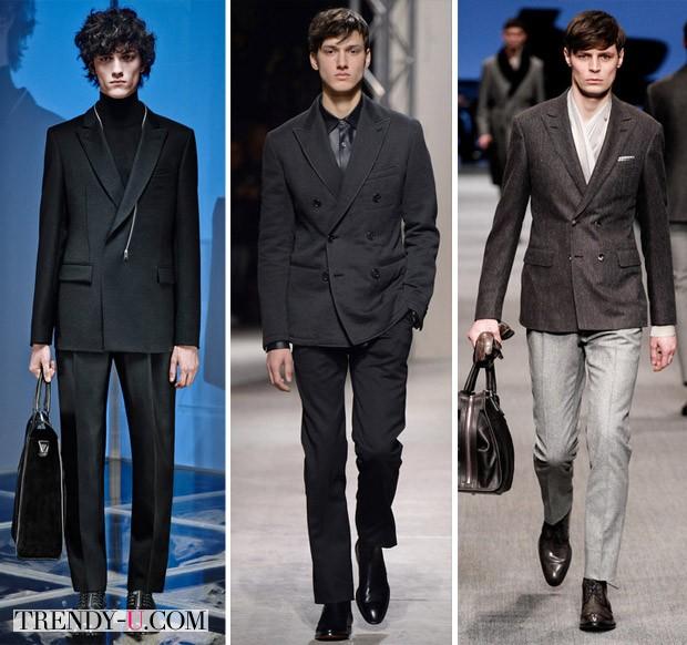 Двубортные пиджаки мужские осень-зима 2014-2015