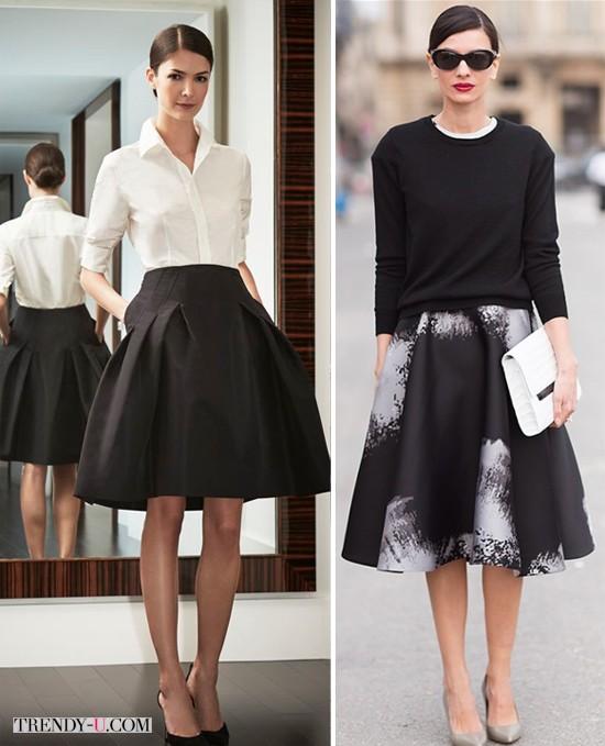 Модные пышные юбки черного цвета