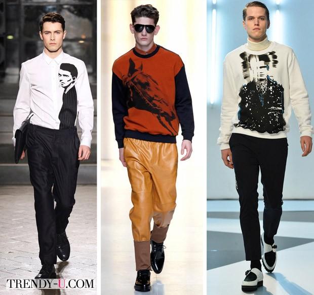 Модные принты на мужской одежде осень-зима 2014-2015