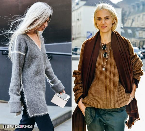 Свитер серый и свитер коричневый